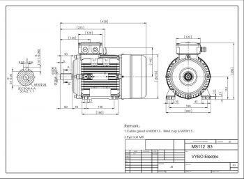 Elektromotor MS 112 prevedenie B3