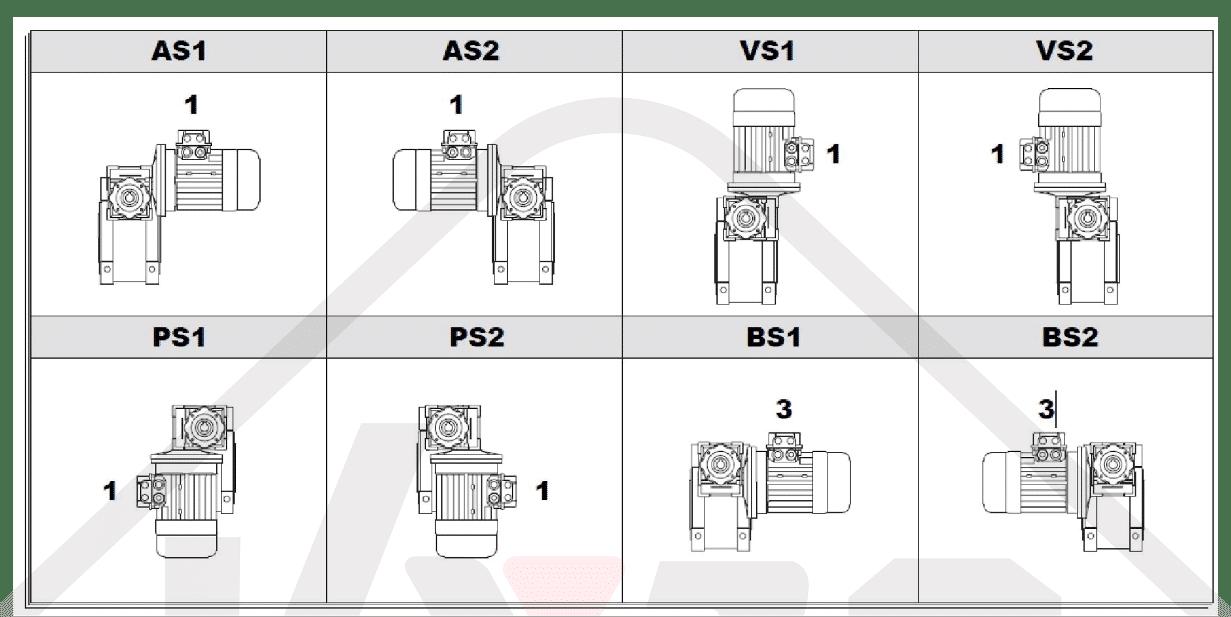 montážní pozice převodovka WGM025