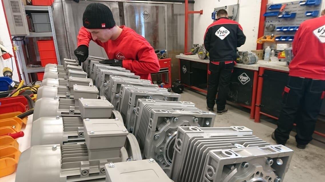 elektroprevodovky montáž vybo electric